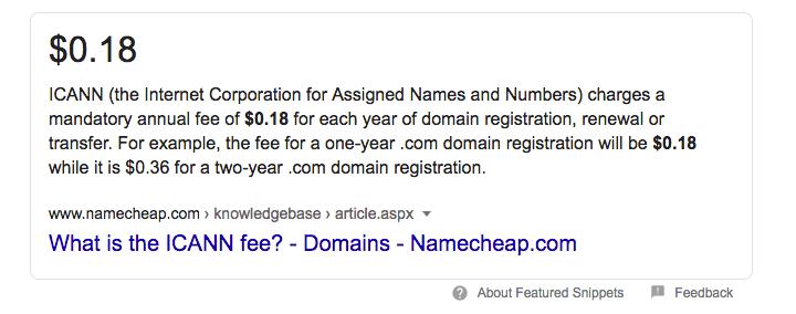 namecheap domain