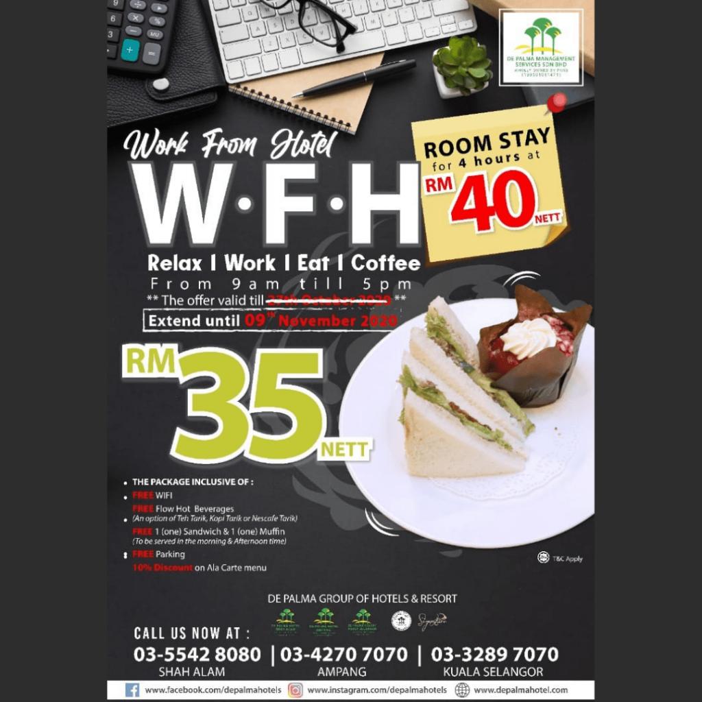 De Palma Group of Hotels & Resort Shah Alam Work From Hotel Selangor