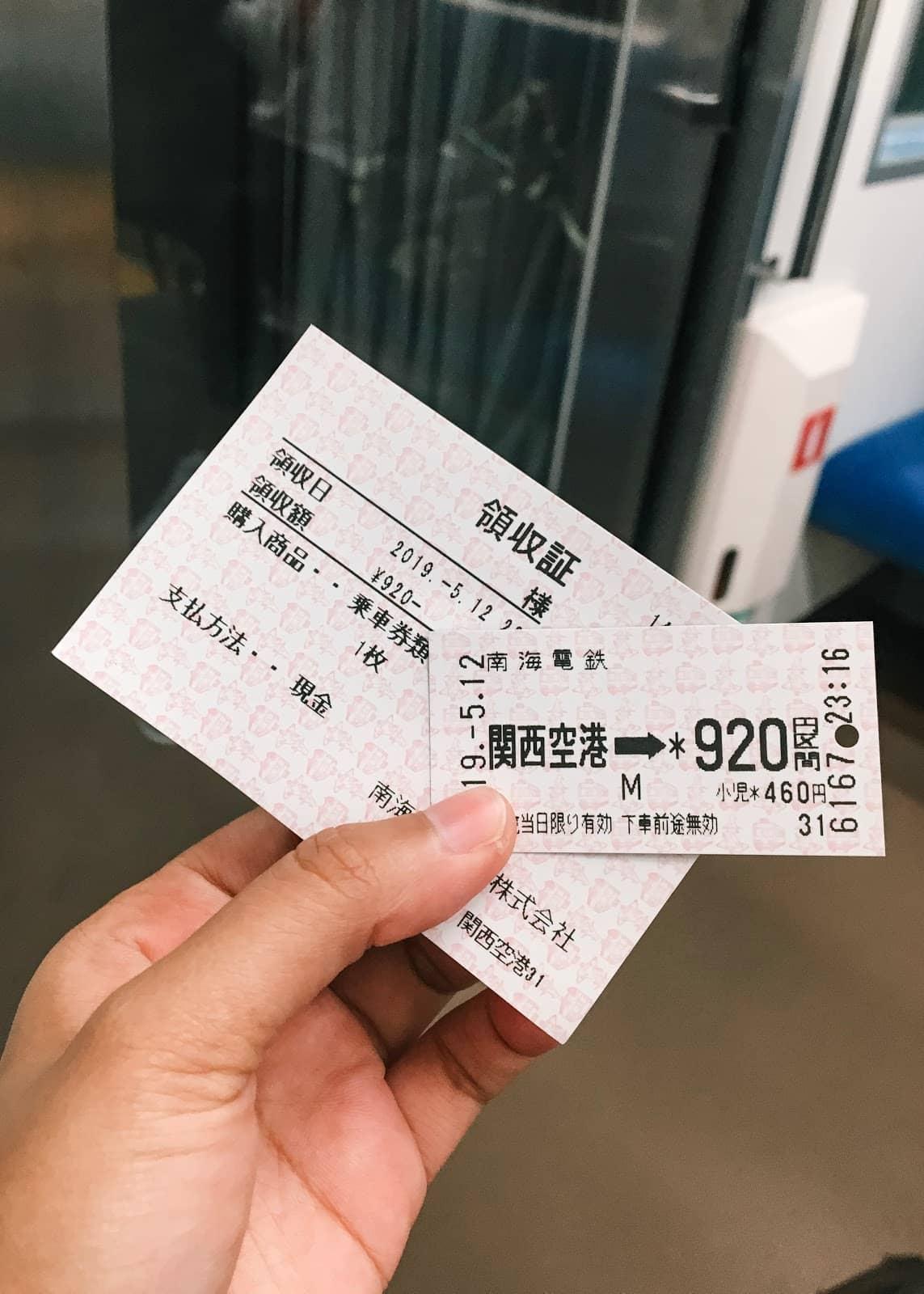 Kansai Airport Train Fee