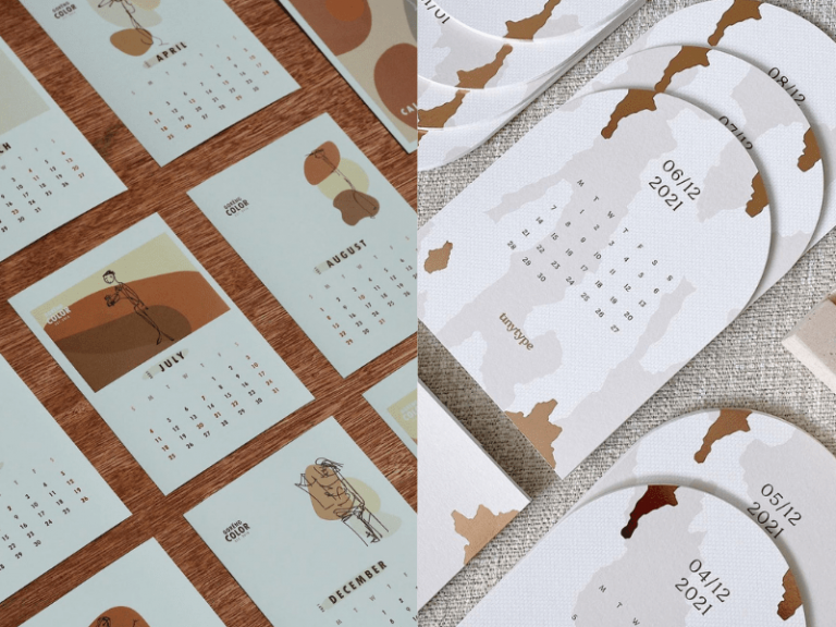 goreng colour and tiny type 2021 calendar