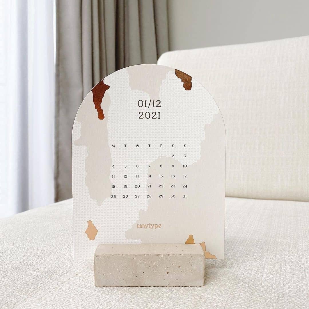 tiny type 2021 calendar