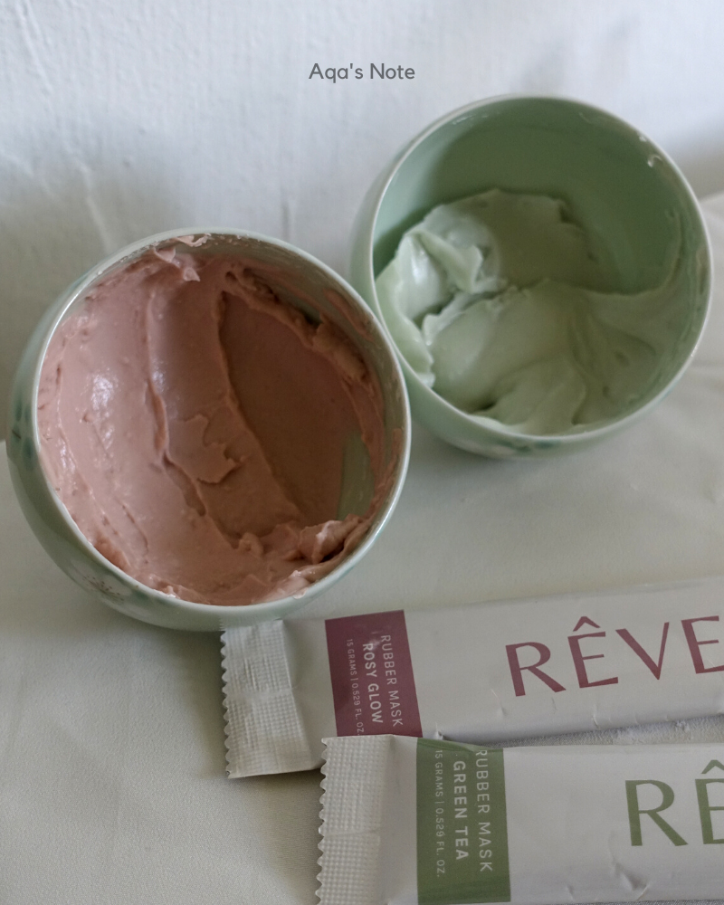 Reverie Touch Rubber Mask Green Tea & Rosy Glow Texture