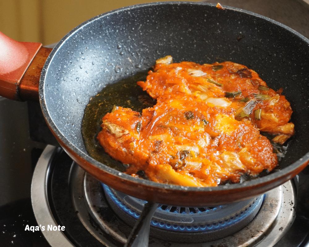 Kimchi Pancake Cooking Aqa's Note