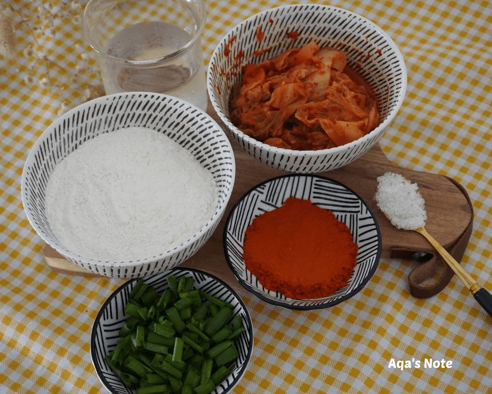 Kimchi Pancake Ingredients Aqa's Note 1