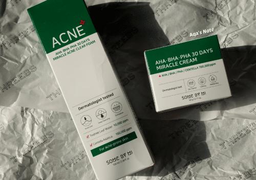 Some By Mi AHA BHA PHA 30 Days Miracle Acne Clear Foam and Cream Review Threebs Aqa's Note Aqalili Azizan